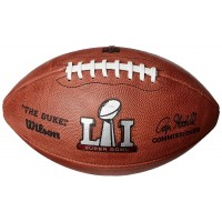 Кожена топка за американски футбол Wilson Super Bowl 51 The Duke