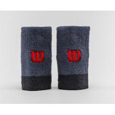 Накитници Extra Wide Wristband Wilson flint/ebony/wilson red