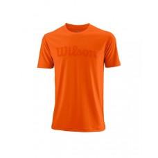 Мъжка тениска Wilson UWII Script Tech Tee burn orange