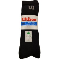 Мъжки чорапи за тенис Wilson Black Crew Fresh (39-46)