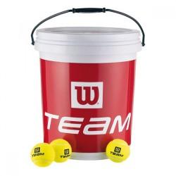 Кофа с тенис топки Wilson Team W Trainer Balls Buket